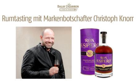 Rumtasting mit Markenbotschafter Christoph Knorr
