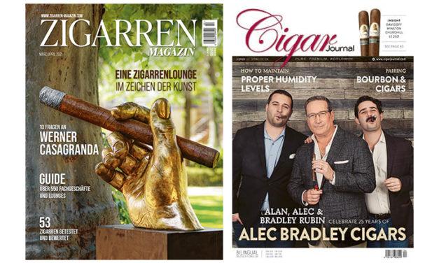 Cigar Journal 2021-01 und Zigarren Magazin 2021-02 Bewertungen von Dalay Importen